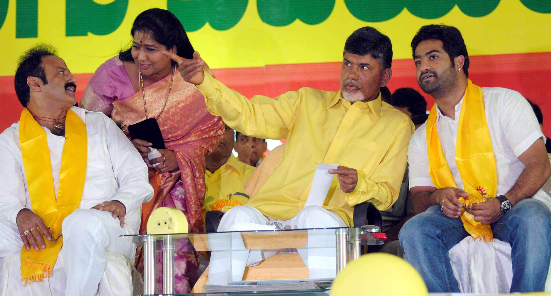 Jr ntr campaigning for telugu desam party