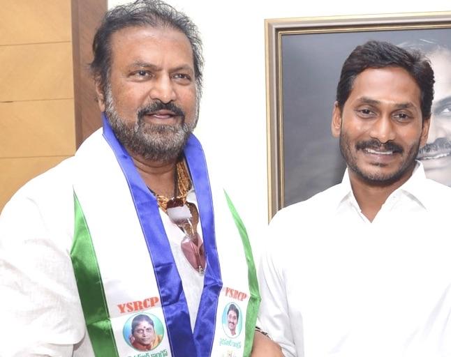 Actor mohan babu joins YSRCP party